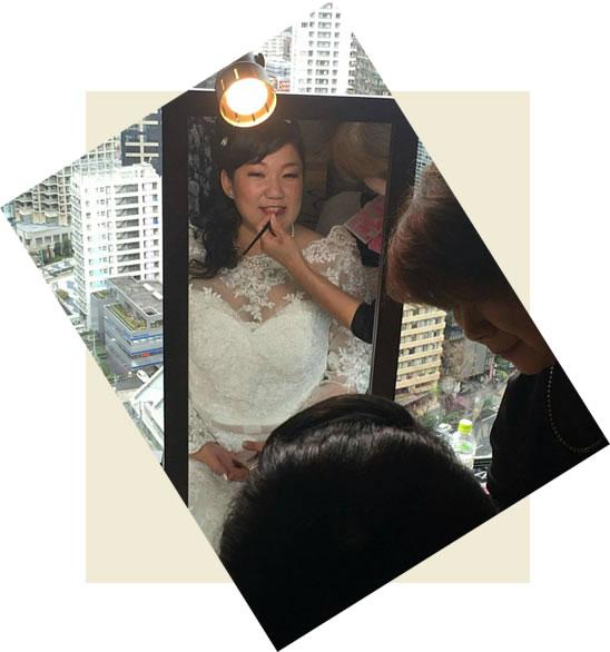 新宿 京王ホテル結婚式会場へ 出張ヘアメイク