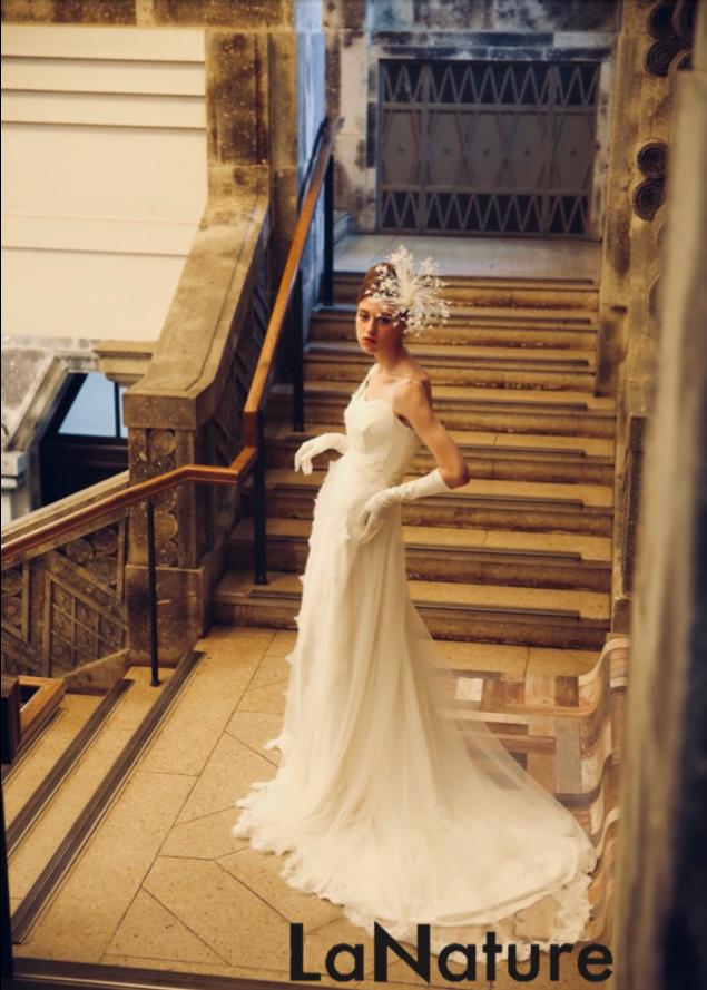 結婚式ドレス広告用モデル写真ヘアメイク