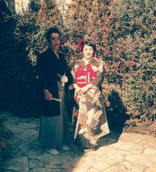 昔のお母様の結婚式の写真を元に